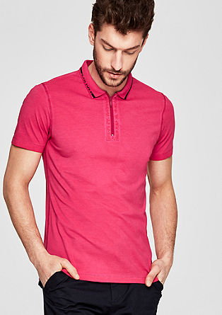 Slim: polo shirt with a garment-washed effect from s.Oliver