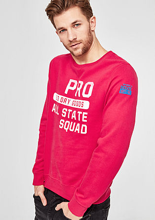 Sweater mit Wording-Print