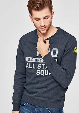 Sweatshirt jacket with printed lettering