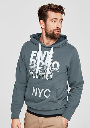 Hoodie with a large front print from s.Oliver
