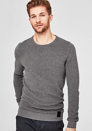 Pullover mit geripptem Strukturmuster