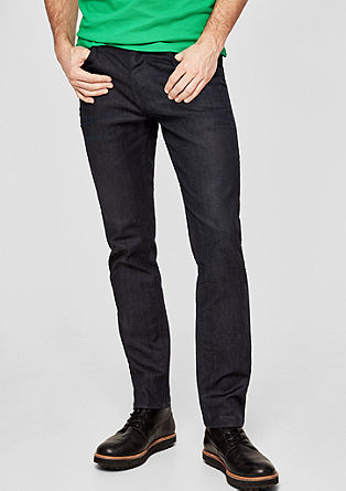 Tubx Straight: Dunkle Jeans