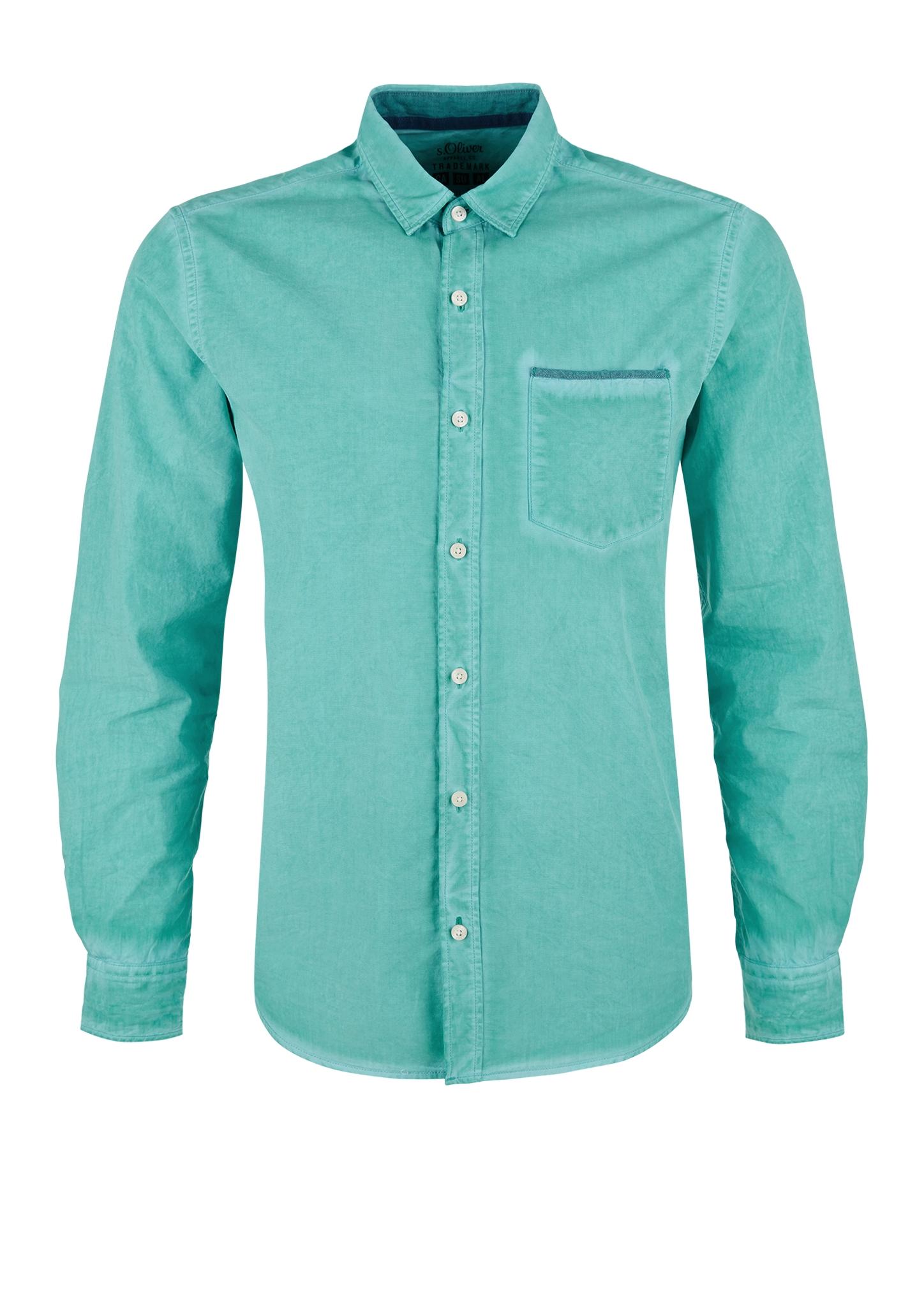 Freizeithemd | Bekleidung > Hemden > Freizeithemden | Blau/grün | 100% baumwolle | s.Oliver