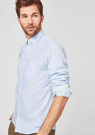 Regular: katoenen overhemd met strepen