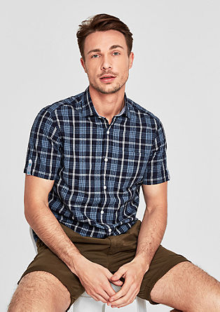 Regular: short sleeve check shirt from s.Oliver