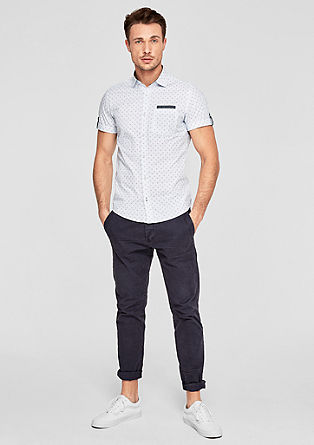Slim: Mixed pattern short sleeve shirt from s.Oliver