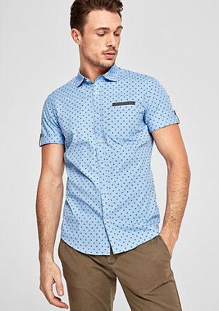 Slim: košile s krátkým rukávem a kombinací vzorů