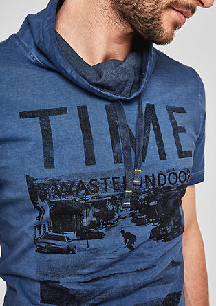 Slim: tričko spotiskem s šálovým límcem
