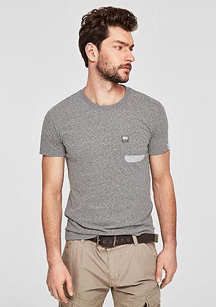 Slim: T-shirt à col rond et poche-poitrine de s.Oliver
