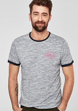 T-shirt d'aspect inversé aux effets chinés de s.Oliver