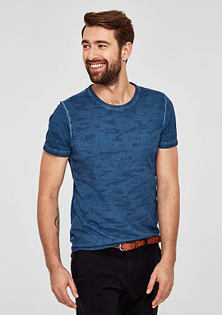 Slim: T-shirt with an all-over print from s.Oliver