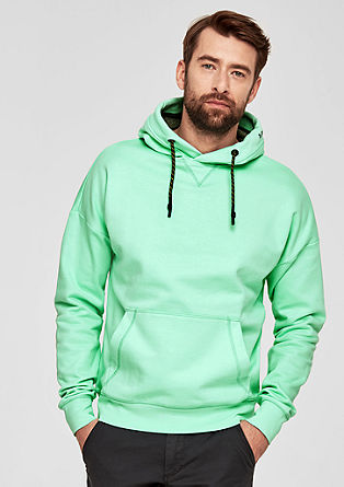 Hoodie with a sporty drawstring from s.Oliver
