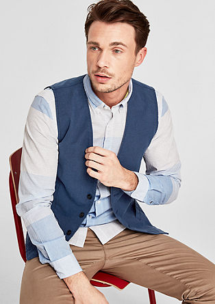 Cotton waistcoat with a textured pattern from s.Oliver