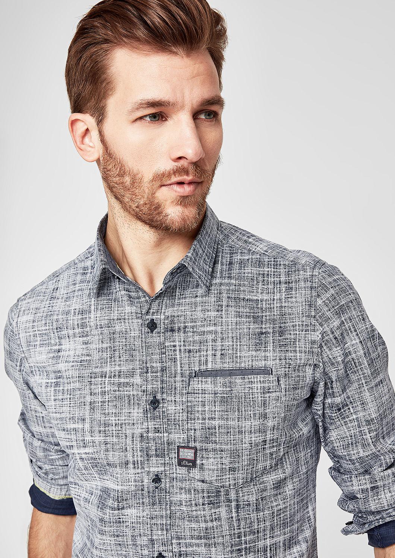 s.Oliver - Slim: Hemd mit Webstruktur - 5