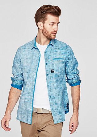 Slim: overhemd met weefstructuur