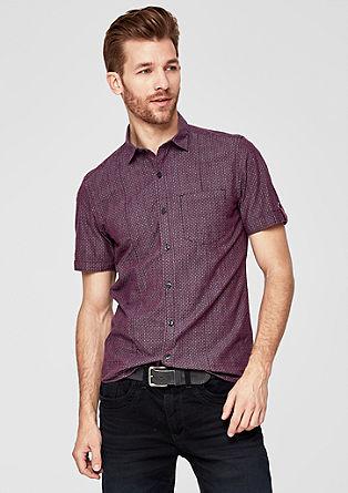 Slim: vzorovaná košile skrátkým rukávem