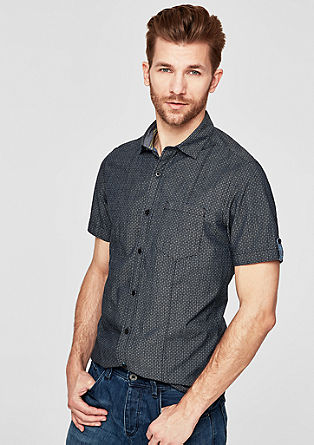 Slim: vzorčasta srajca kratek rokav
