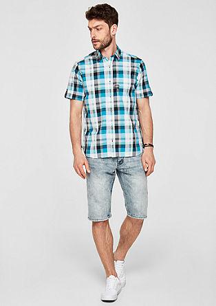 Regular: Karirasta srajca kratek rokav