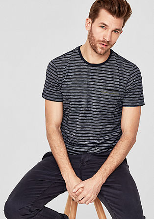 Striped piqué top from s.Oliver
