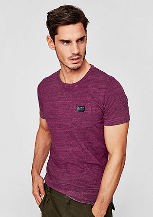 Slim: Cool pigment-dyed T-shirt from s.Oliver