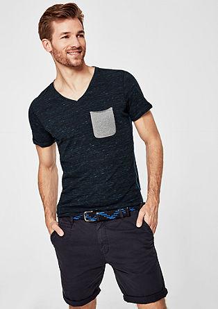 Slim: Meliertes Slub Yarn-Shirt