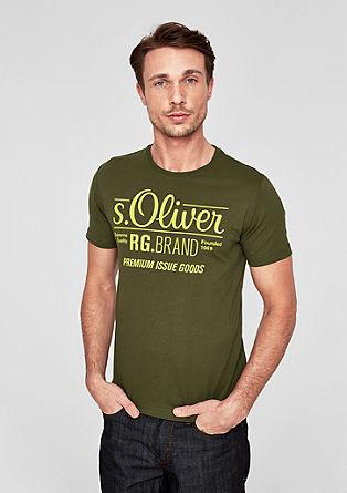 T-shirt basique animé d'un imprimé à l'effigie de la marque de s.Oliver