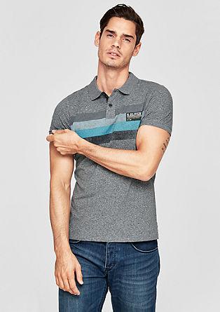 Poloshirt mit Blockstreifen