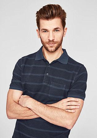 Polo majica v črtastega dizajna