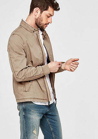 Lightweight twill jacket in a garment wash from s.Oliver