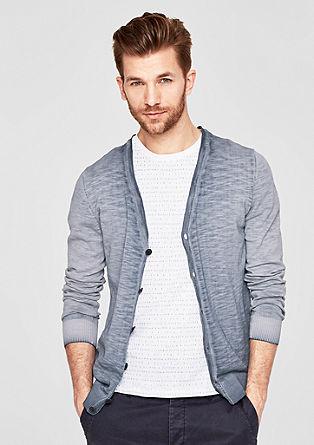 Gebreid vest met garment wash