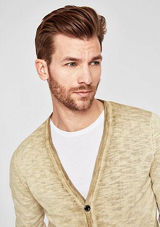 Pletený kabátek se sepraným efektem