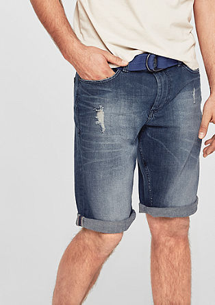 Tubx straight: denim bermuda
