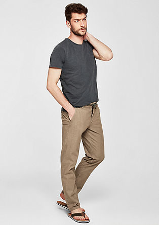 Tubx Regular: Chino in Leinen-Optik