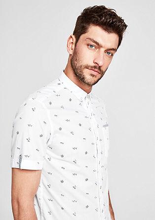 Slim: volnočasová košile se vzorkem