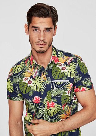 Slim: luchtig Hawaï-overhemd