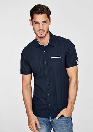 Slim: Hemd mit Kontrast-Details