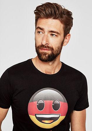 Slim: T-Shirt mit Emoji-Print