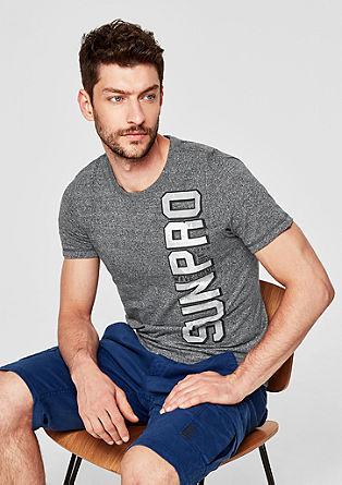 Slim: T-Shirt mit Schriftzug