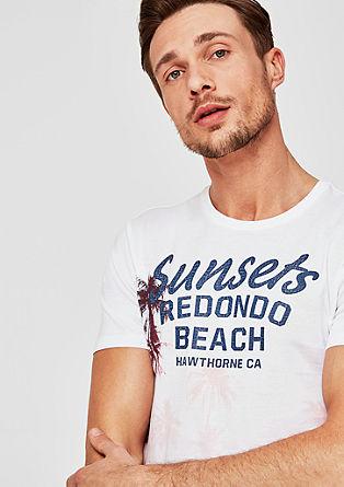 Slim: T-Shirt mit Sommer-Print