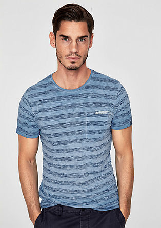 Slim: majica kratek rokav zbledelega videza