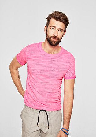 Slim: Shirt in een pigment dyed look, van slubgaren