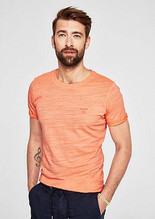 Slim: t-shirt en fil flammé de teinte pigmentaire de s.Oliver