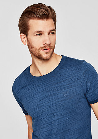 Slim: Shirt in een pigment dyed look, van slubgaren