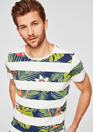Slim: Shirt mit Streifenprint