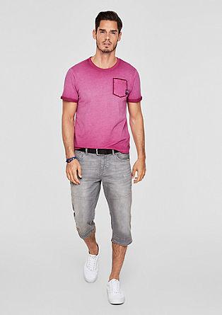 Piqué-Shirt in Pigment Dye