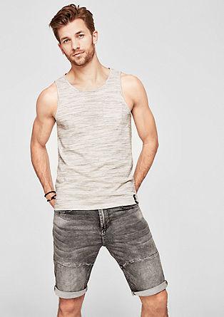Slim: Slub yarn tank top from s.Oliver