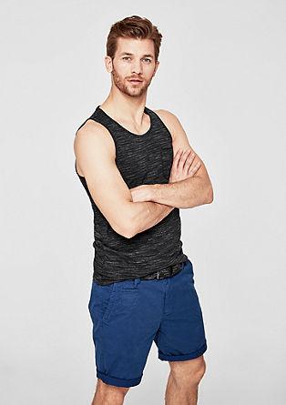 Slim: majica brez rokavov iz preje slub yarn