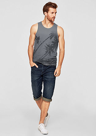 Slim: Tank mit Allover-Print