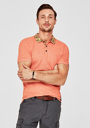 Slim: Poloshirt met print