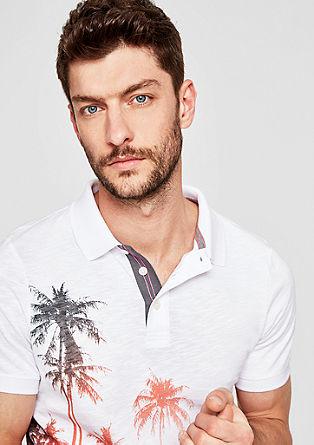 Slim: Polo majica z vzorčastim potiskom